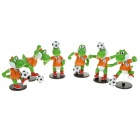 Nintendo Super Mario Football Yoshi Figure Toys (6-Pieces Set)