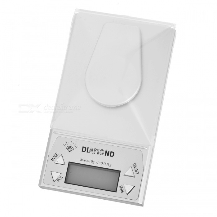 High Precision Portable Digital Scale - 10g/0.001g (2*AAA)