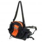 Outdoor Dual-Purposes Waist Bag/One Shoulder Bag - Orange + Black