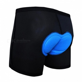 Thickened Silicone Outdoor Bicycle Riding Cycling Short Pants Shorts - Black (XL)