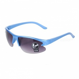 OULAIOU Men's Outdoor Cycling Windproof Insect-proofing PC Lens UV400 Sunglasses - Blue