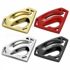 Car Decoration Stickers Metal 3D Stereo Superman Car Stickers Body Stickers Side Labels Tail Mark Silver