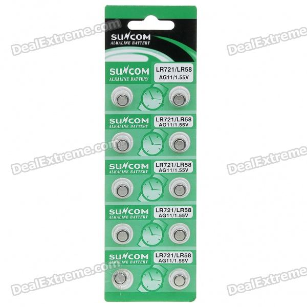 AG11 1.55V Alkaline Cell Button Battery (20-Pieces Pack)