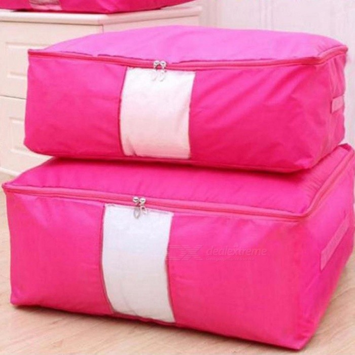 Quilt Storage Bags Oxford Luggage Bags Home Storage Organiser Waterproof Wardrobe Clothes Storing Storage Bags Red/S