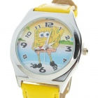 Charming Cartoon SpongeBob Style Quartz Wrist Watch for Children - Style Assorted (1*LR41)