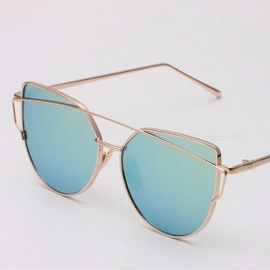 New Cat Eye Women Sunglasses Europe And The United States Style With Metal Color Film And Vintage Frame Tangerine
