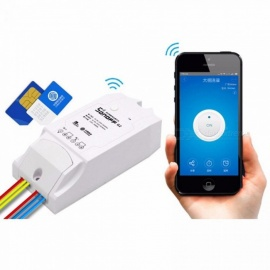 Sonoff G1: GPRS/GSM Remote Power Smart Switch Remotely Turn On/off Home Appliances By Android And IOS EWeLink White