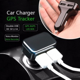 Car Charger GPS Tracker GPS GSM Wifi LBS Real-time Tracking Call SMS Voice Monitoring Recorder Free APP Web Other