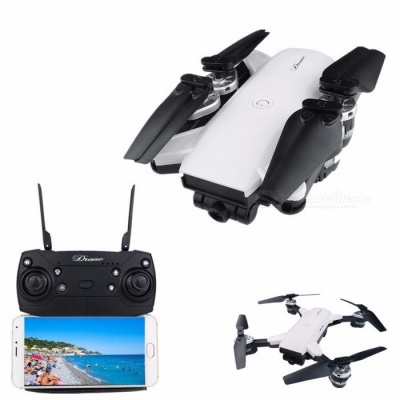 YH-19HW Foldable Drone Mini RC Selfie Drone With Camera 720P RC Drones RC Helicopter White