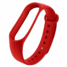 Smart Bracelet TPE + TPU Wrist Strap for Xiaomi Miband 3 - Red