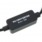 PS2 to PS3 & PC USB Controller Convertor Adapter Cable - Black