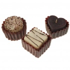 Creative Belgium Chocolate Style Scented Candles with Case (3-Piece Pack)
