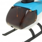Solar Powered Helicopter Toy - Blue + White
