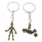 Buy Scare Skull Skeleton Style Keychain - Style Assorted (Pair)