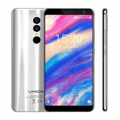 UMIDIGI A1 Pro 18:9 5.5 Inches MTK6739 1.5GHz 4G Smartphone with 3GB RAM, 16GB ROM - Moonlight Silver