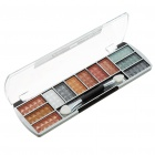 Cosmetic Makeup 12-Colors Eye Shadow with Brush & Mirror