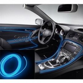 Car Interior Atmosphere Lights Styling for Audi A3 A4 B6 B8 B7 B5 A6 C5 C6 Q5 A5 Q7 TT A1 S3 S4 S5 S6 S8 Accessories 5M Blue