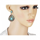 XSUNI Bohemia Earrings Filled with Crystal and Small Beads - Colour