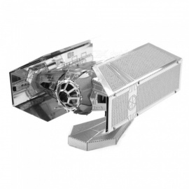 XMD DIY 3D metalen model kits puzzel star wars vita master titan fighter geassembleerd educatief speelgoed - zilver