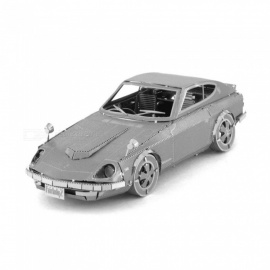 XMD DIY 3D Metal Model Kits Puzzle Nissan Coupe Assembled Educational Toy - Silver