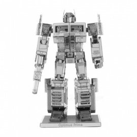 XMD DIY 3D Metal Model Kits Puzzle Pillar Brother Assembled Educational Toy - Silver