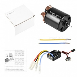 540 35T 4 Poles Brushed Motor and WP-1060-RTR 60A Waterproof Brushed ESC Electronic Speed Controller with 5V/2A BEC for 1/10 RC