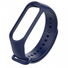 TPE + TPU Replacement Wrist Strap for Xiaomi Mi Band 3 Smart Bracelet - Midnight Blue