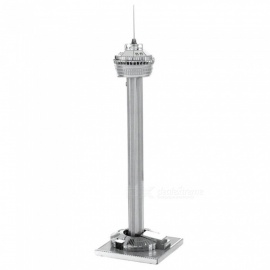 XMD DIY 3D Metal Model Kits Puzzle American Tower Assembled Educational Toy - Silver