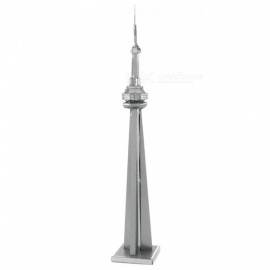 XMD DIY 3D Metal Model Kits Puzzle Canadian TV Tower Assembled Educational Toy - Silver