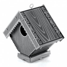 XMD DIY 3D Metal Model Kits Puzzle Bird House Assembled Educational Toy - Silver