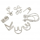 Brain Teaser Metal Wire Iron IQ Puzzle Mind Game Toy (Set of 7)
