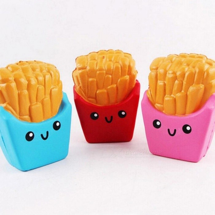 Cute Chips Squishy Jumbo French Fries Slow Rising Soft Scented Bread Cake Elasticity Stretch Kid Fun Gift Toy Cute Chips Squishy