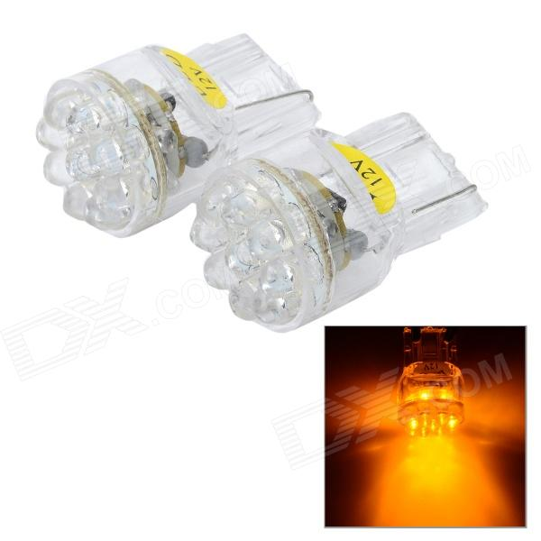 12V T20 15-LED Vehicle Lamps (2-Pack Yellow)