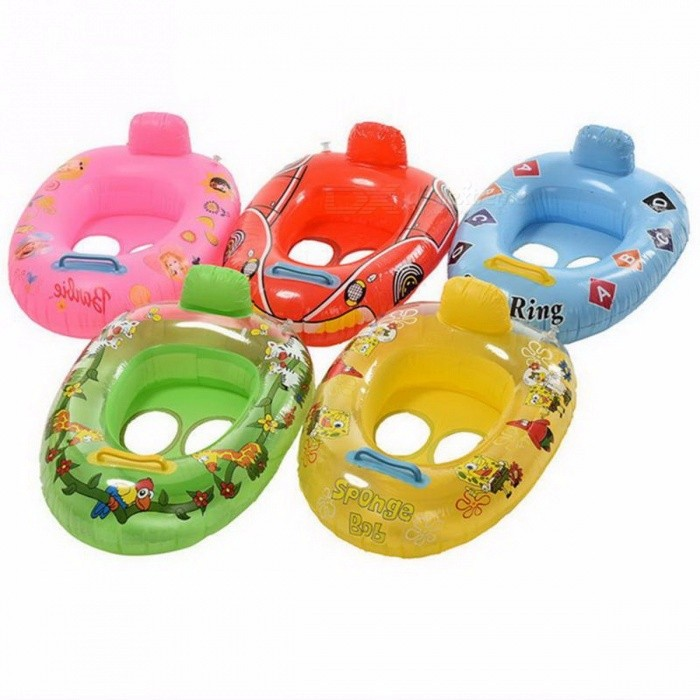 Portable Summer Baby Kids Cartoon Safety Swimming Ring Inflatable Swim Float Water Fun Pool Toys Seat Boat Water Sport Multi