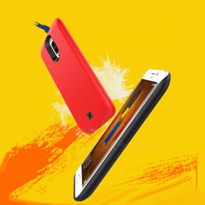 External 5000mAh Battery Back Case Backup Mobile Battery Case Cover For  Huawei P10 Red
