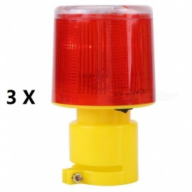 Red Rotating Beacon Warning Light Lamp Solar LED Emergency Warning Light LED Indicator Alarm Lamp Traffic Boat Lights Navigation