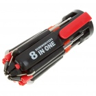 8-in-1 Screwdrivers Toolkit with 6-LED Flashlight (3*AAA)