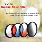 ZOMEI Circular Filter Neutral Density Gradual Grey Color Filter GND Optical Camera Lens Caliber 55mm