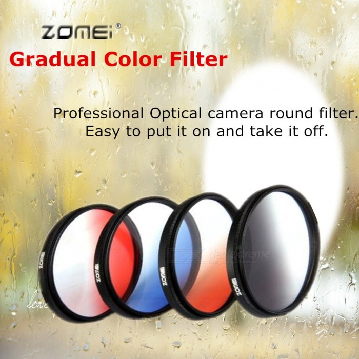ZOMEI Circular Filter Neutral Density Gradual Red Color Filter GND Optical Camera Lens Caliber 58mm