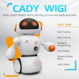 JJRC R6 CADY WIGI RC Robot Path Tracking Intelligent Programming with Light RTR - Orange