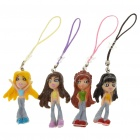 Beautiful Girl Figure Cell Phone/MP3/MP4 Straps - Style Assorted (12-Piece Pack)