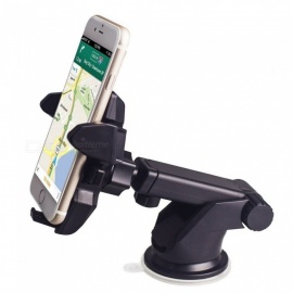 360-degree Long Arm Universal Car Windscreen Dashboard Holder Mount for GPS PDA Mobile - Black