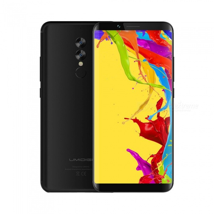 UMIDIGI S2 Lite 4G Phone, 4GB RAM, 32GB ROM, Face ID, 5100mAh Battery, 16.0MP Rear Camera - Black
