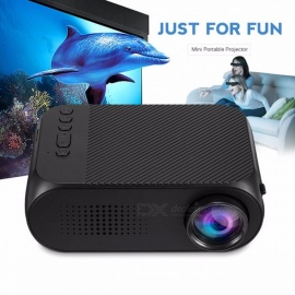 YG320 Mini LCD Projector Home Theater Cinema 400LM Support 1080P HDMI Pocket Protector Built-in Speaker Color1