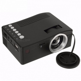 UC18 Mini LCD 500:1 Portable Projector With USB TF Card AV Cable LED Projector For Home Theater Cinema Color1