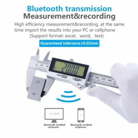 ESAMACT IP67 bluetooth vanntett digital nøyaktig vernier tykkelse digital rustfritt stål vernier tykkelse 0-150mm