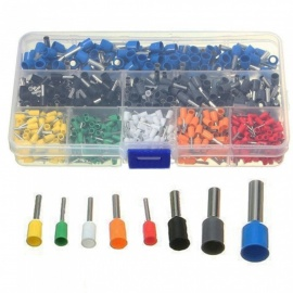 esamact800pcs wire ferrules crimp terminal kontakt 10 # -22 # AWG sortiment isolert ledning pin end kit med etui