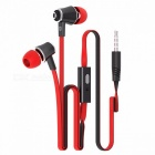 Langsdom JM21 In-ear Wired Flat Earphones With Microphone Super Bass Headset For IPHONE 6 6s Xiaomi Smartphone Earphone Blue