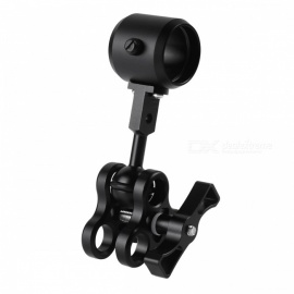 Triple Holes Ball Clamp Mount Ball Handle Adapter for Led Diving Flashlight - Black