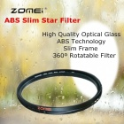 ZOMEI Circular ABS Adjustable Slim Star Filter Gross 4 Point Optical camera Lens Caliber 72mm
